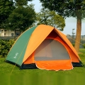 Camping Tent Outdoor Double Layer (Green/Orange Tent)