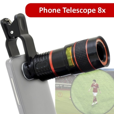 Phone Telescope  8X Optical Zoom Telescope Lens for Mobile Phone