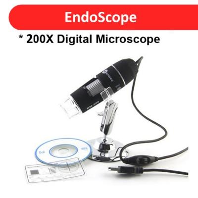 25x to 200x USB Microscope Endoscope 2MP Sensor with Adjustable Stand