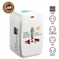 Universal Travel Adapter International Adapter Charger 2xUSB