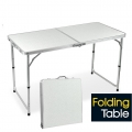 Portable Foldable Aluminium Table Camping Outdoor Table 120cm (White)