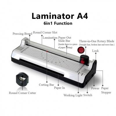 6-in-1 Soonye Laminator Photo / Paper Cutter A4