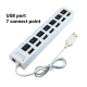 7 Port USB 2.0 Hub High Speed Mini USB Hub Adapter WHITE