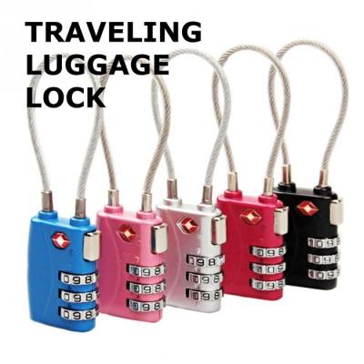 Jasit Lock TSA719 3 Combination Digit Travel Luggage Padlock