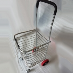 4 Wheel High Quality Foldable Shopping Grocery Trolley Cart PU