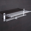 60cm Aluminum Bathroom Towel Hook Holder Hanger Rack Shelf