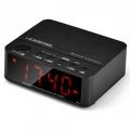 Bluetooth Wireless Speaker with Alarm Clock, Radio, SD card, USB BLACK