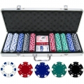 Poker Set With 500 Chips with Aluminium Case Casino Games