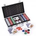 Poker Set With 300 Chips c/w Aluminium Case Casino Games