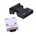 HDMI Female to VGA Male Converter with  Audio Support 1080P Premium