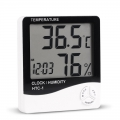 HTC-1 Digital LCD Temperature Humidity Hygrometer With Alarm Clock