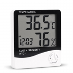 HTC-1 Digital LCD Temperature Humidity Hygrometer With Alarm Clock