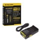 Original NiteCore D2 Charger Battery 14500/16340/18350/18650/18700