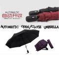 Korea Style A Key to Open and Close Automatic Auto Foldable Umbrella