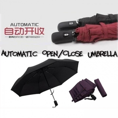 Korea Style A Key to Open and Close Automatic Auto Foldable Umbrella