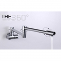 Water Tap Kitchen Faucets Wall Mounted 360 Swing Spout 2/4inch (2322)