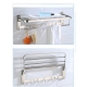 60cm Stainless Steel Bathroom Towel Foldable Hook Wall Hanger Rack