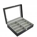 8 Slot PU Leather Display Sun Glasses Eyewear Storage Box