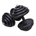 Rubber Black Dumbbell Fitness GYM Dumbell Exercise 10kg