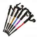 High Quality Anti Shock Retracted Hiking Walking Stick Straight Handle
