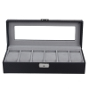 Carbon Fiber Watch Display Storage Box  (6 Slot)