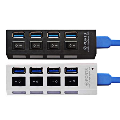 4 Port USB 3.0 Hub High Speed Mini USB Hub Adapter