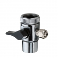"Water Dispenser Valve For 1/4"" Tube one way Black Handle"