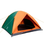Double Layer Camping Tent Outdoor 3-4 Person Hiking Door