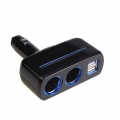 3.1A 80W 2 Dual Usb & Cigarette Car Socket Phone Handphone Charger