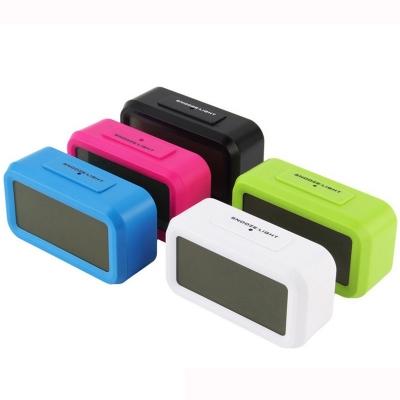 FREE BATTERY LED Digital Alarm Smart Clock Touch Sensor Temperature